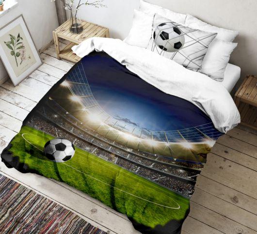 3D povlečení 140x200, 70x90cm Fotbal