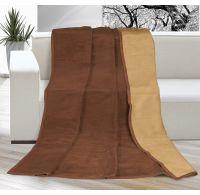 Deka jednobarevná 150x200cm čokoládová / oříšková