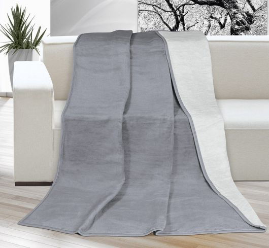 Deka jednobarevná 150x200cm světle šedá / tmavě šedá