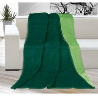 Deka jednobarevná 150x200cm tmavě zelená / zelená