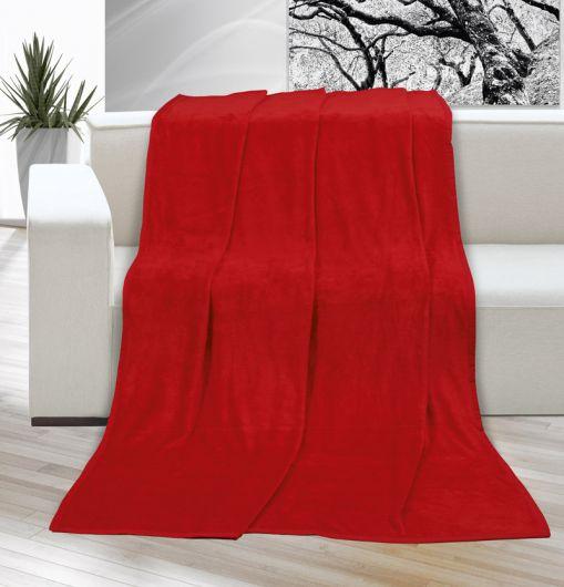 Deka micro jednobarevná 150x200cm červená