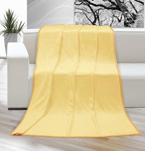 Deka micro jednobarevná 150x200cm světle žlutá