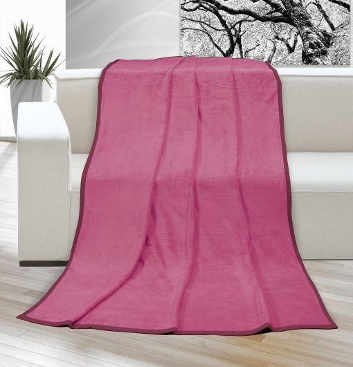 Deka micro jednobarevná 200x230cm růžová