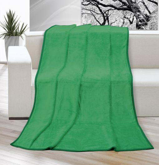 Deka micro jednobarevná 200x230cm zelená