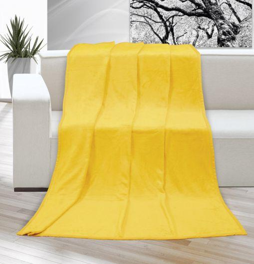 Deka micro jednobarevná 200x230cm žlutá