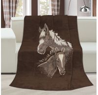 Deka vzorovaná 150x200cm Koně