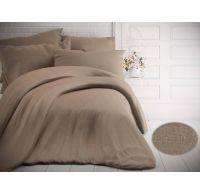 Francouzské jednobarevné bavlněné povlečení 200x200, 70x90cm melír béžový