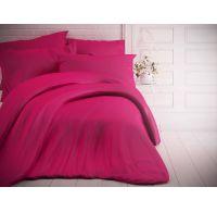 Francouzské jednobarevné bavlněné povlečení 200x200, 70x90cm purpurové