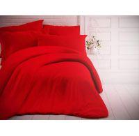 Francouzské jednobarevné bavlněné povlečení 220x200, 70x90cm červené