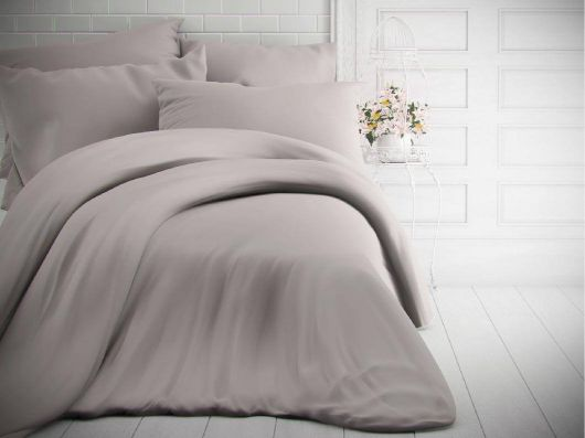 Francouzské jednobarevné bavlněné povlečení 220x200, 70x90cm světle šedé