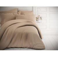 Francouzské jednobarevné bavlněné povlečení 240x200, 70x90cm béžové