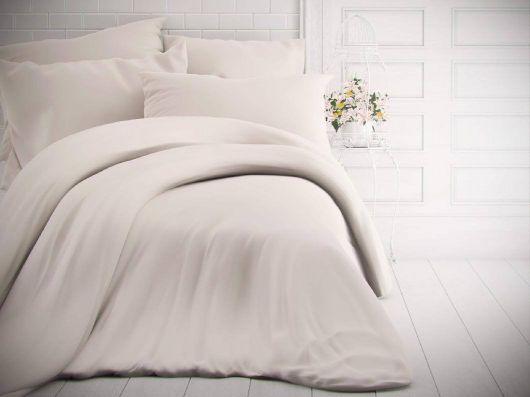 Francouzské jednobarevné bavlněné povlečení 240x200, 70x90cm bílé