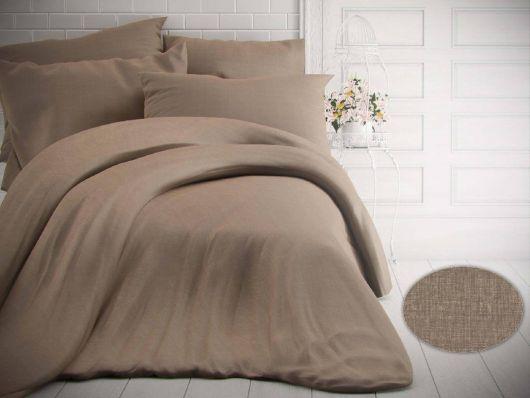 Francouzské jednobarevné bavlněné povlečení 240x200, 70x90cm melír béžový