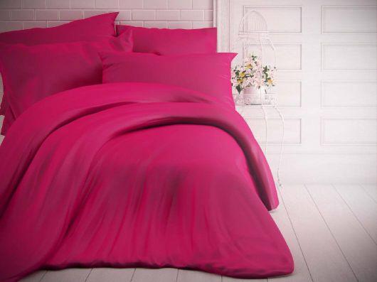 Francouzské jednobarevné bavlněné povlečení 240x200, 70x90cm purpurové