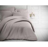 Francouzské jednobarevné bavlněné povlečení 240x200, 70x90cm světle šedé