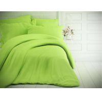 Francouzské jednobarevné bavlněné povlečení 240x200, 70x90cm světle zelené