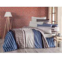 Francouzské krepové povlečení 220x200, 70x90cm Stripes modré