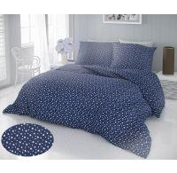 Francouzské prodloužené bavlněné povlečení DELUX 240x220, 70x90cm HVĚZDY modré