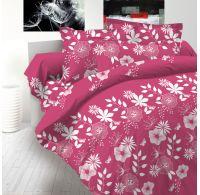 Francouzské prodloužené bavlněné povlečení DELUXE COCCONA růžová 240x220, 70x90cm