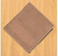 Froté osuška bordura 70x140cm tmavě béžová