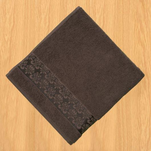 Froté osuška bordura 70x140cm tmavě hnědá