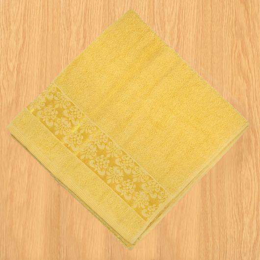 Froté osuška bordura 70x140cm žlutá