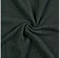Froté prostěradlo dvojlůžko 180x200cm černé