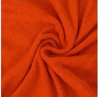 Froté prostěradlo jednolůžko 90x200cm oranžové