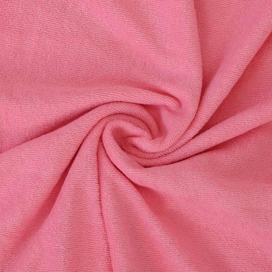 Froté prostěradlo jednolůžko 90x200cm růžové