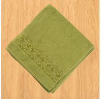 Froté ručník 50x100cm bordura olivový