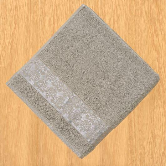 Froté ručník 50x100cm bordura šedý