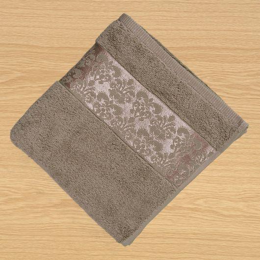 Froté ručník 50x100cm bordura světle béžový