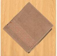 Froté ručník 50x100cm bordura tmavě béžový