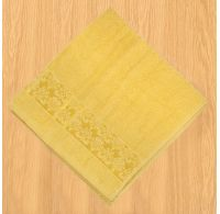 Froté ručník 50x100cm bordura žlutý