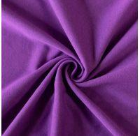 Jersey prostěradlo dvojlůžko 180x200cm tmavě fialové