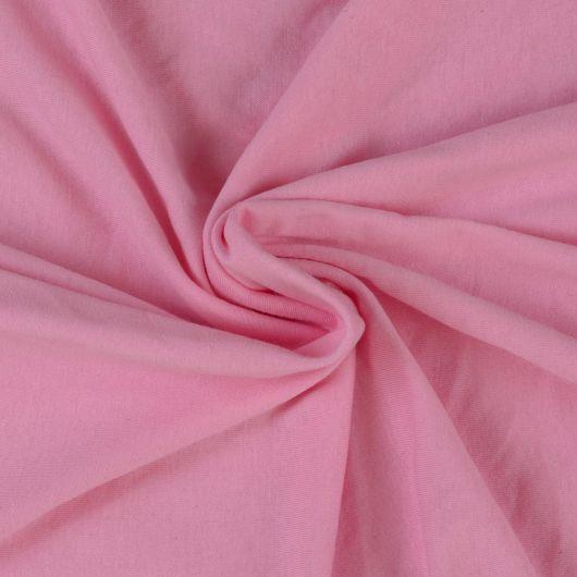 Jersey prostěradlo dvojlůžko 200x200cm světle růžové