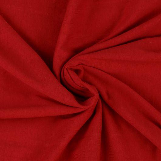Jersey prostěradlo jednolůžko 100x200cm červené