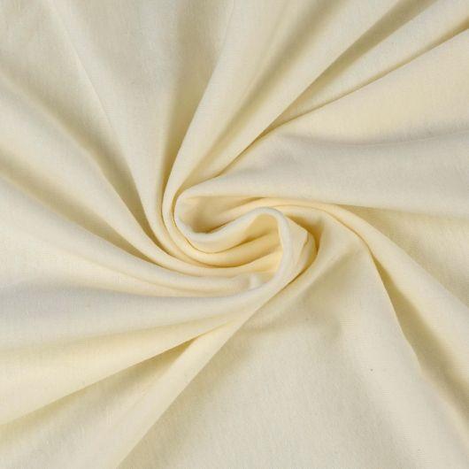 Jersey prostěradlo jednolůžko 100x200cm smetanové