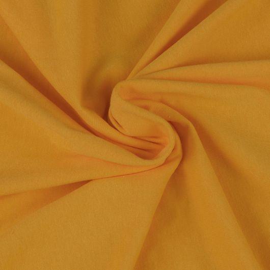 Jersey prostěradlo jednolůžko 90x200cm sytě žluté