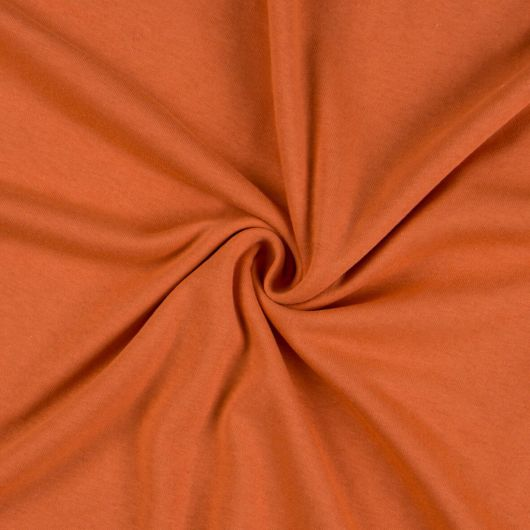 Jersey prostěradlo jednolůžko 90x200cm terrakota