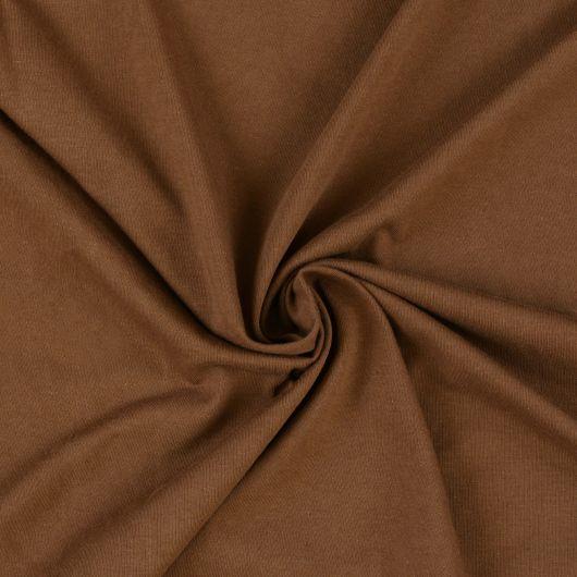 Jersey prostěradlo jednolůžko 90x200cm tmavě hnědé