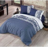 Klasické ložní bavlněné povlečení STANDARD 140x200, 70x90cm CANZONE modré