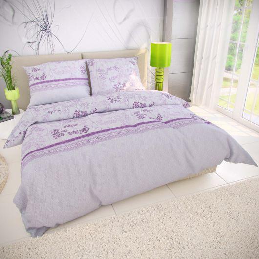Klasické ložní bavlněné povlečení 140x200, 70x90cm LAVENDA fialová