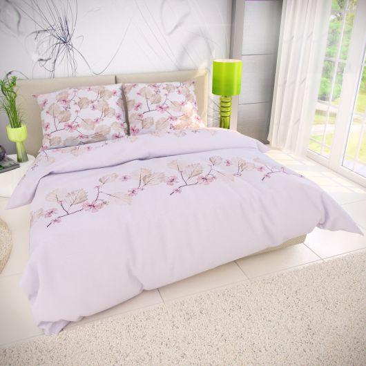 Klasické ložní bavlněné povlečení 140x200, 70x90cm MARY růžová