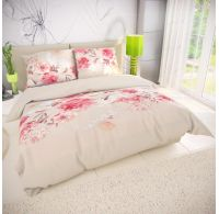 Klasické ložní bavlněné povlečení 140x200, 70x90cm TANEA růžová