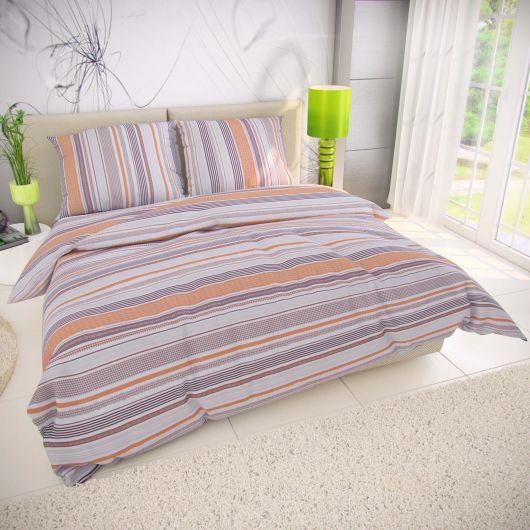 Klasické ložní bavlněné povlečení 140x200, 70x90cm VENTA béžová