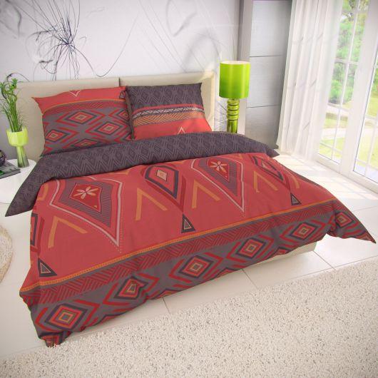Klasické ložní bavlněné povlečení 140x200, 70x90cm ZAHIRA červená