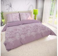 Klasické ložní bavlněné povlečení BOVA fialová 140x200, 70x90cm