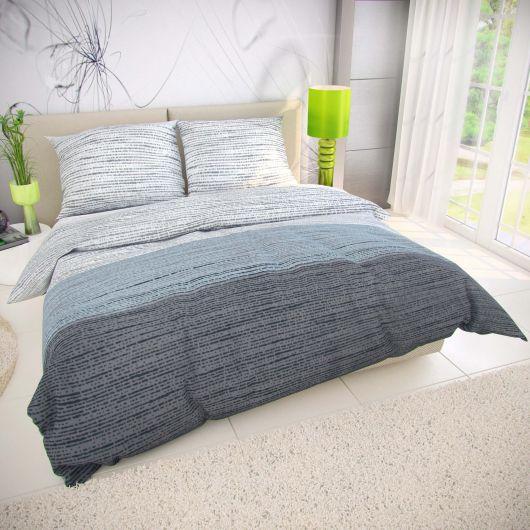 Klasické ložní bavlněné povlečení 140x200, 70x90cm MIST šedé