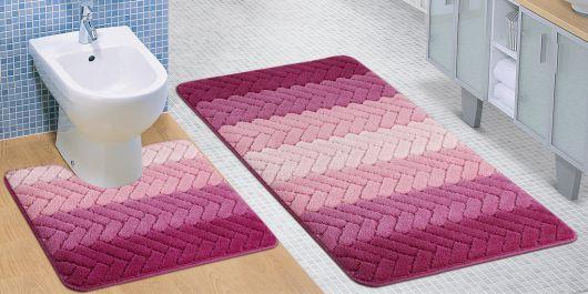 Koupelnová a WC předložka Artes růžová